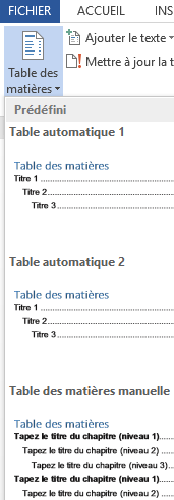 table matiere1