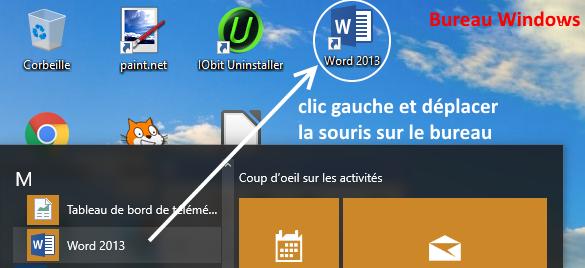 démarrer Microsoft Office 2013 sur le bureau Windows