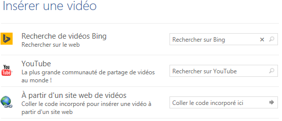 inserer une video